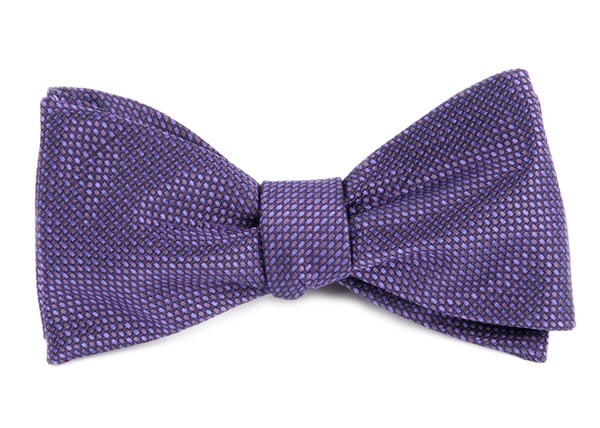 Sideline Solid Plum Bow Tie
