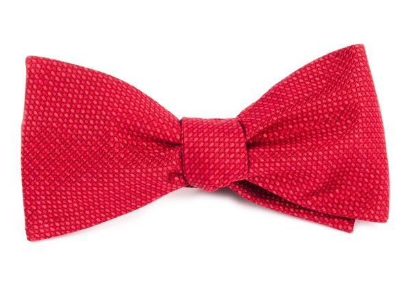 Sideline Solid Red Bow Tie