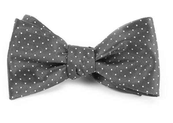 Mini Dots Charcoal Grey Bow Tie