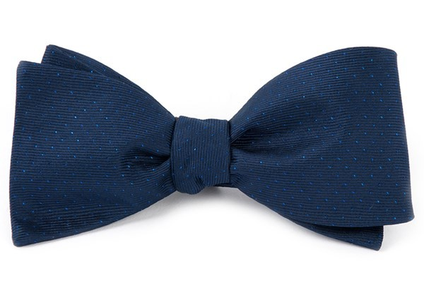 Flicker Navy Bow Tie