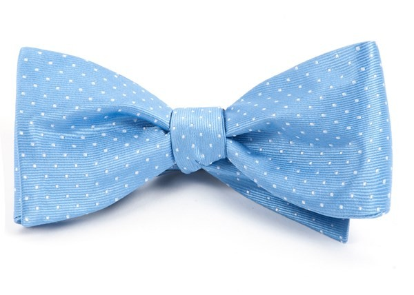 Mini Dots Light Blue Bow Tie
