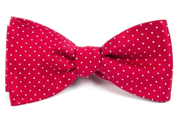 Mini Dots Red Bow Tie