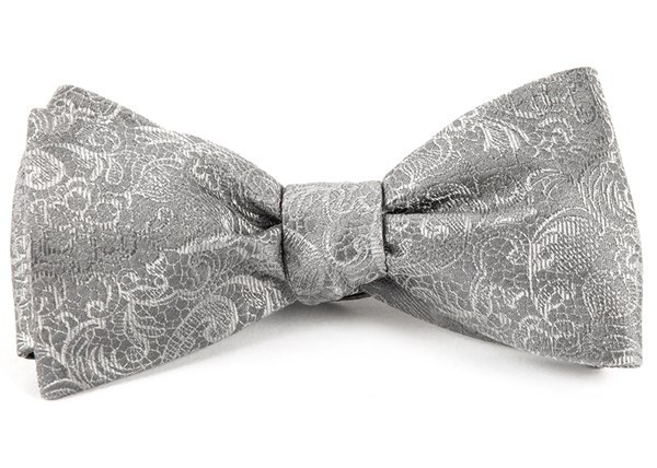 Ceremony Paisley Silver Bow Tie