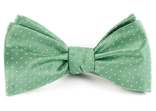 Mini Dots Mint Bow Tie