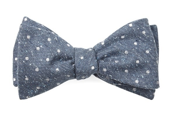Knotted Dots Serene Blue Bow Tie