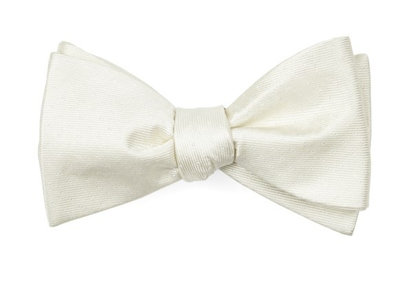 Mini Dots Ivory Bow Tie