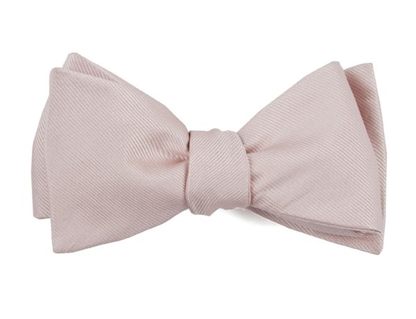 Grosgrain Solid Blush Pink Bow Tie
