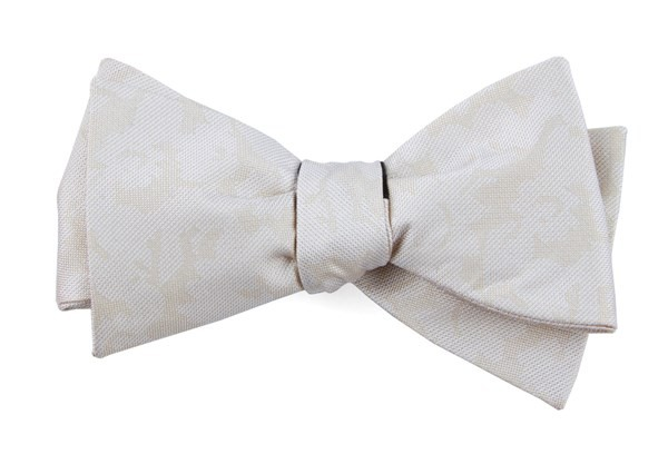 Refinado Floral Light Champagne Bow Tie