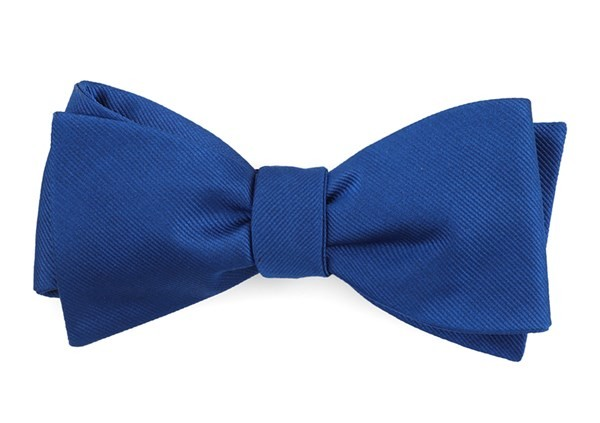 Grosgrain Solid Royal Blue Bow Tie