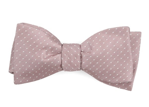 Mini Dots Mauve Stone Bow Tie