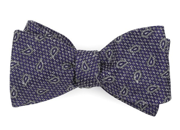 Pine Lake Paisley Purple Bow Tie