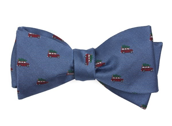 Christmas Vacation Light Blue Bow Tie