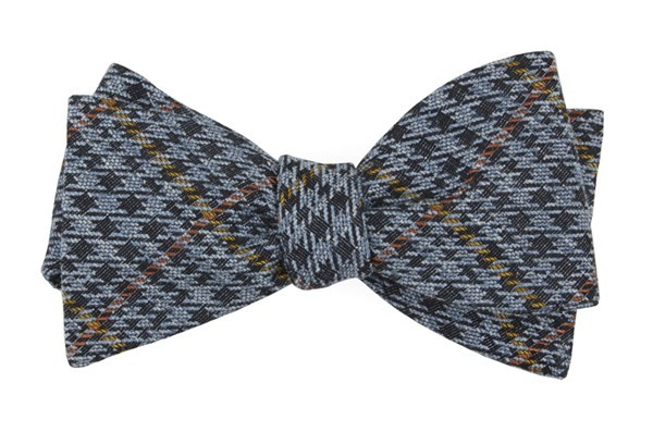 Quinn Plaid Light Blue Bow Tie