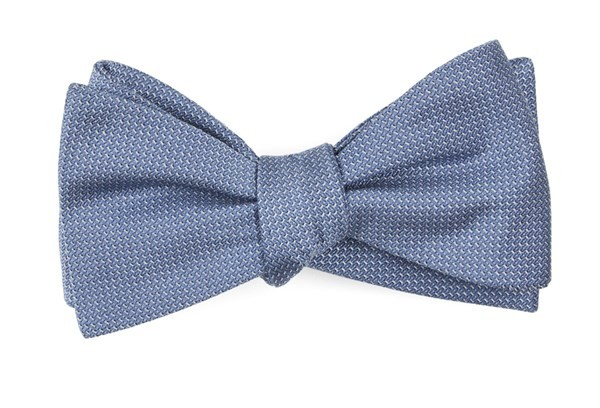 Union Solid Slate Blue Bow Tie