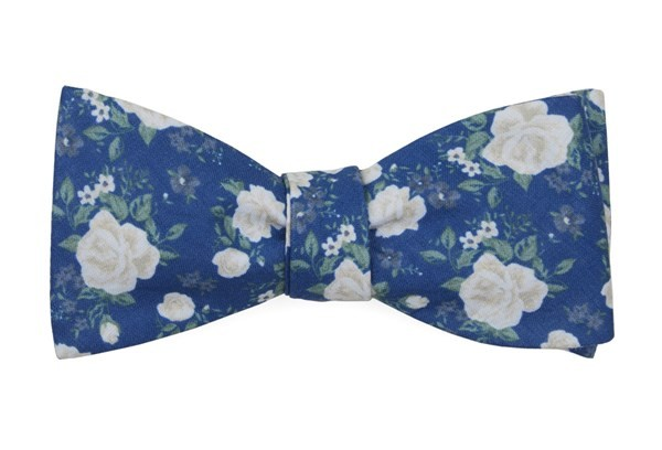 Hodgkiss Flowers Royal Blue Bow Tie
