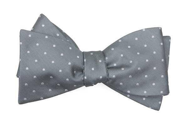 Mumu Weddings - Seaside Dot Silver Sage Bow Tie