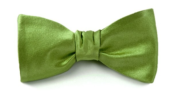 Solid Satin Clover Bow Tie