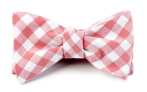 Fall Colorful Plaid Strawberry Bow Tie