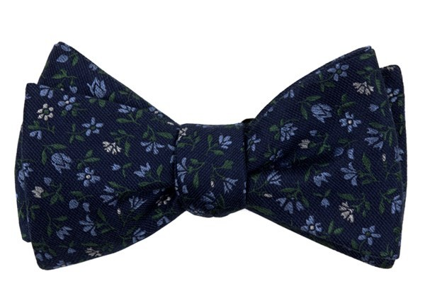Floral Acres Navy Bow Tie