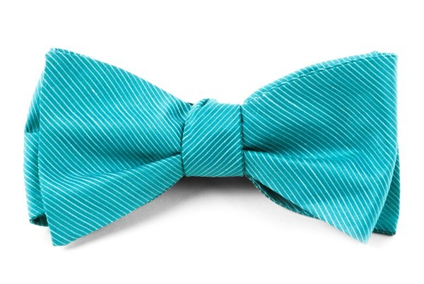 Fountain Solid Ocean Blue Bow Tie
