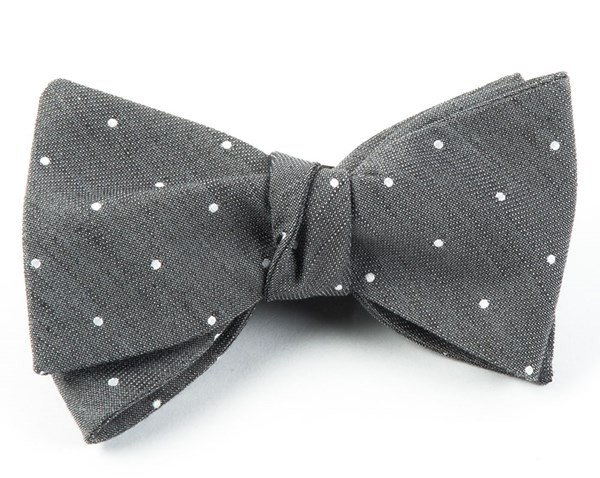 Bulletin Dot Grey Bow Tie
