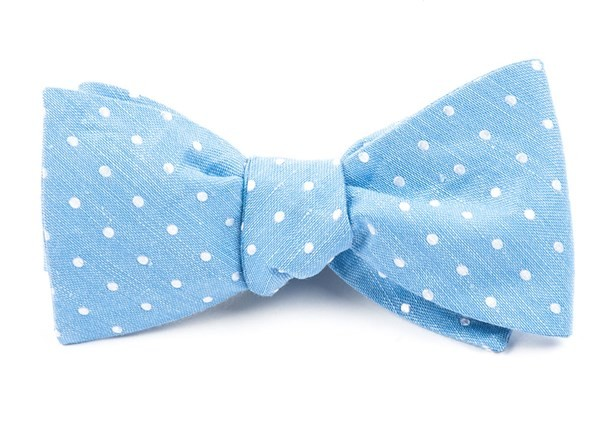 Dotted Dots Light Blue Bow Tie
