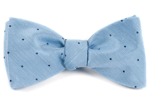 Bulletin Dot Sky Blue Bow Tie