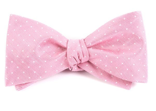 Destination Dots Pink Bow Tie