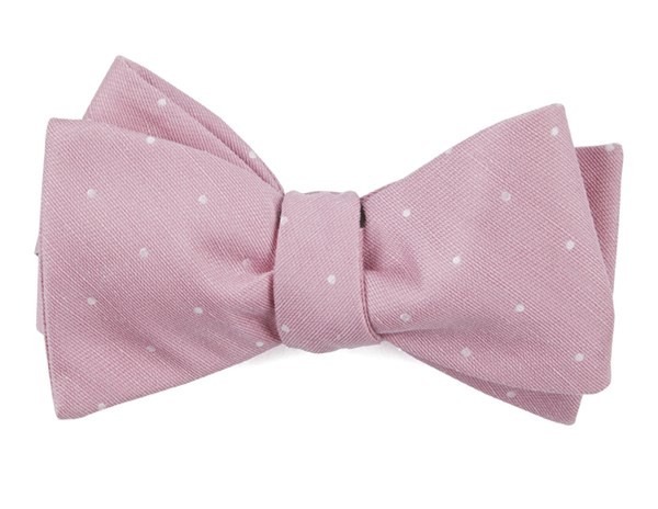 Bulletin Dot Pink Bow Tie
