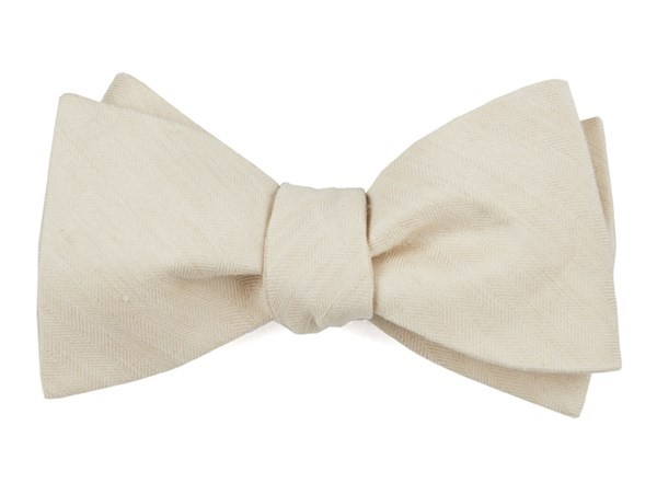 Linen Row Light Champagne Bow Tie