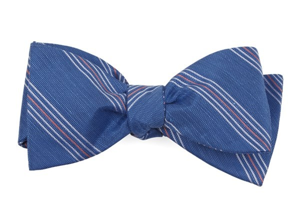 Derby Lane Stripe Light Cobalt Blue Bow Tie