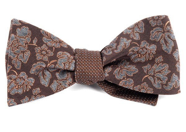Intellect Pinpoint Brown Bow Tie