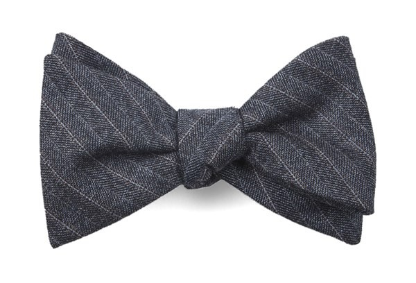 Assembly Of Stripes Whale Blue Bow Tie