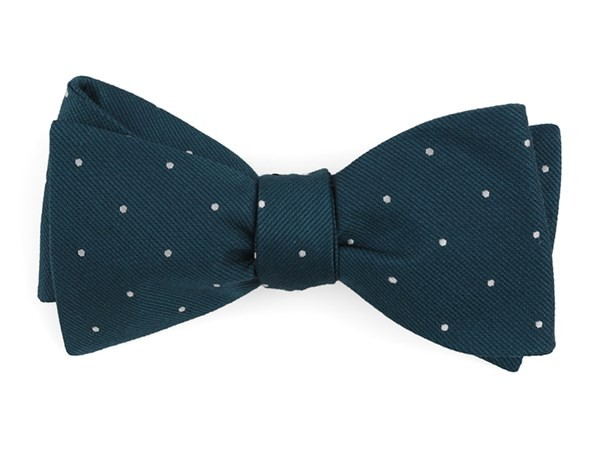 Dotted Report Teal Bow Tie