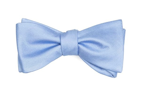 Grosgrain Solid Light Blue Bow Tie