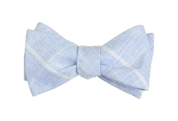 Sea Breeze Panes Navy Bow Tie