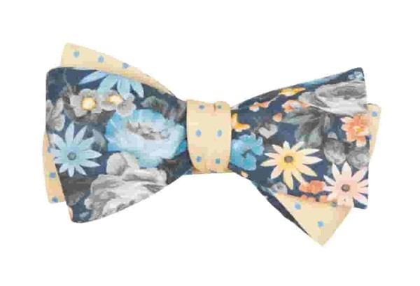 Duke Dots Navy Bow Tie