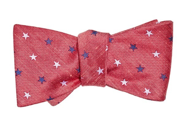 Star Spangled Red Bow Tie