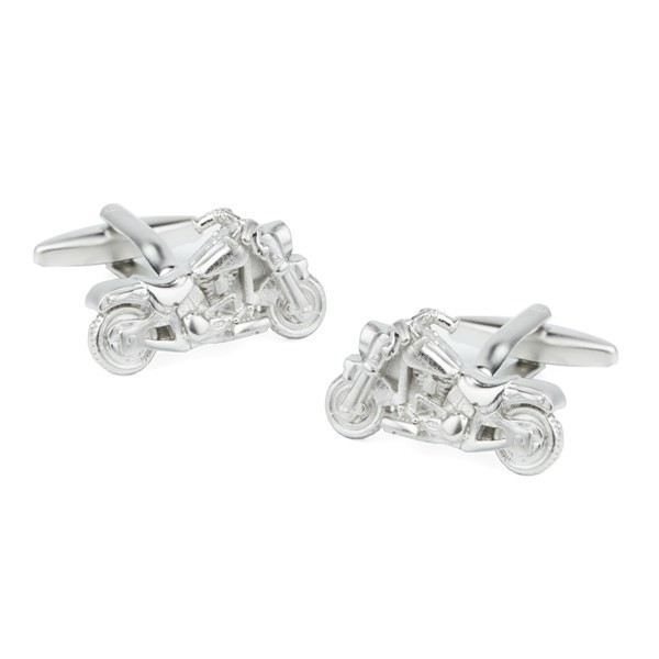 Motorcycles Silver Cufflinks