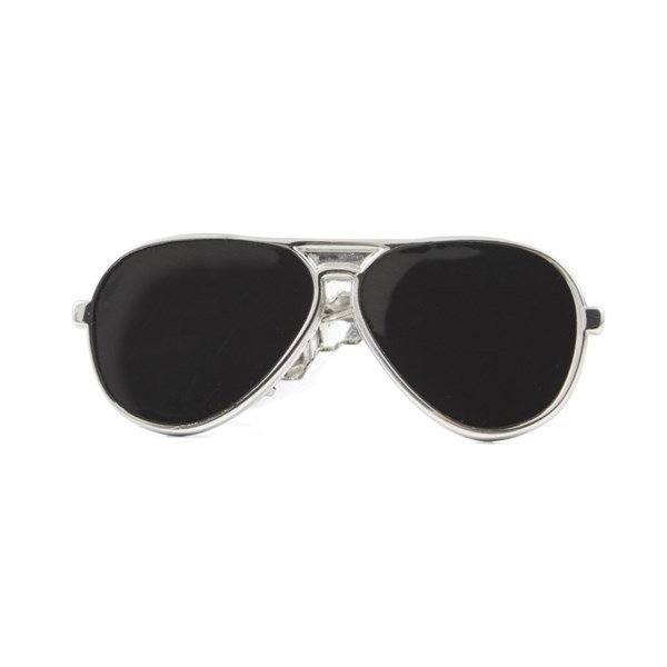 Sunglasses Silver Tie Bar
