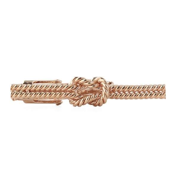 Knotted Rose Gold Tie Bar