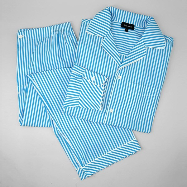 Aqua Stripe Pajama Set
