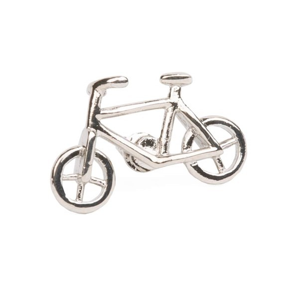City Bicycle Silver Lapel Pin
