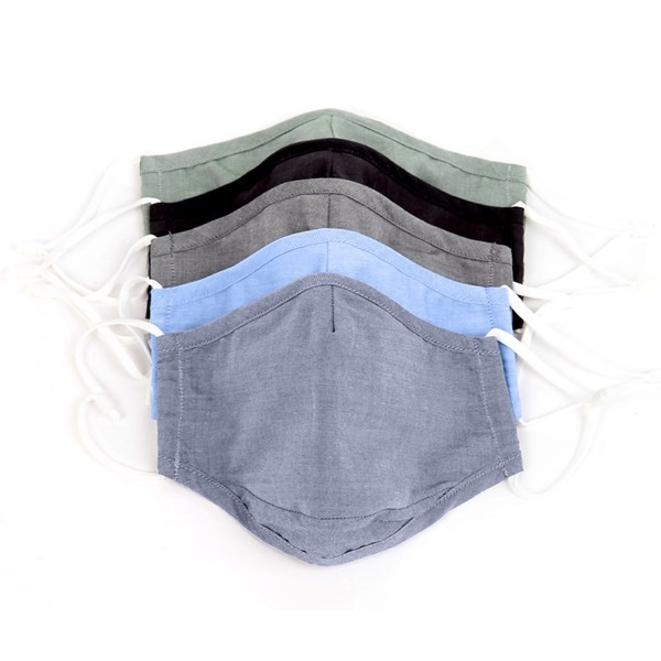 Solid 5 Pack Cotton Face Mask