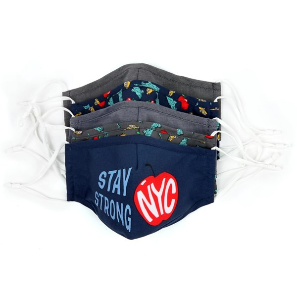5 Pack Cotton Navy Nyc Face Mask