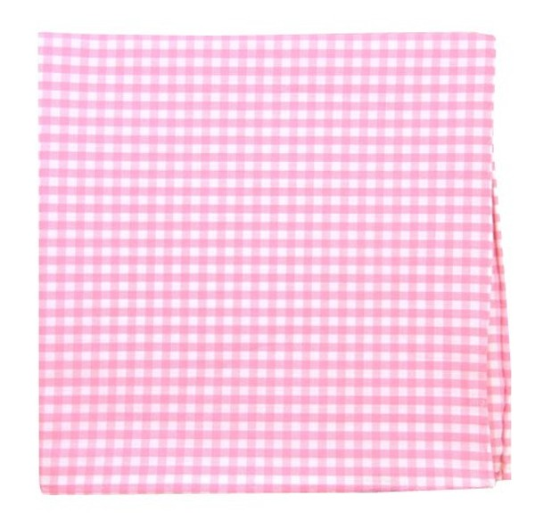 Novel Gingham Pink Pocket Square