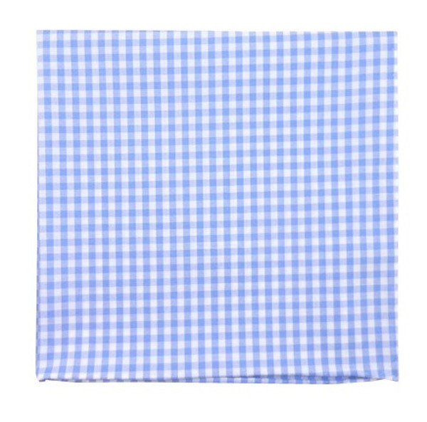 Novel Gingham Sky Pocket Square