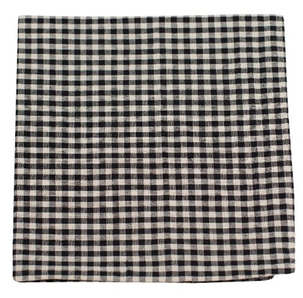 Fall Gingham Black Pocket Square