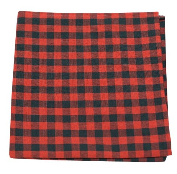 Fall Colorful Plaid Red Pocket Square