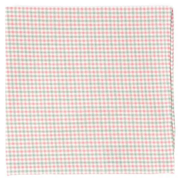 Gulf Shore Gingham Pink Pocket Square